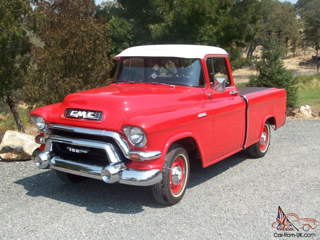 Rare Vintage 1956 Gmc Town Country Suburban Cameo Pickup Truck Runs Great