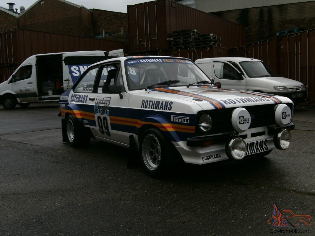 ford escort mk rothmans replica grp rally car bargine