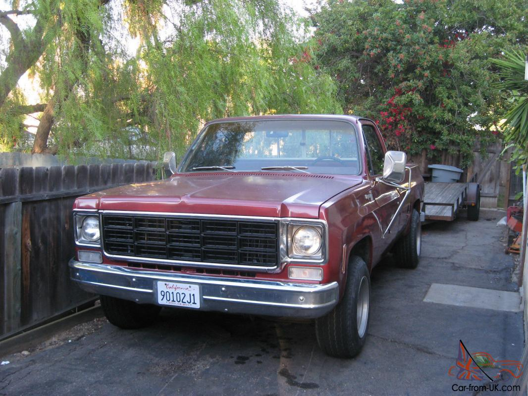 1977 Chevrolet C20 Pickup Truck 3 4 Ton 454 91 100 Miles Th400 Chevy Gmc