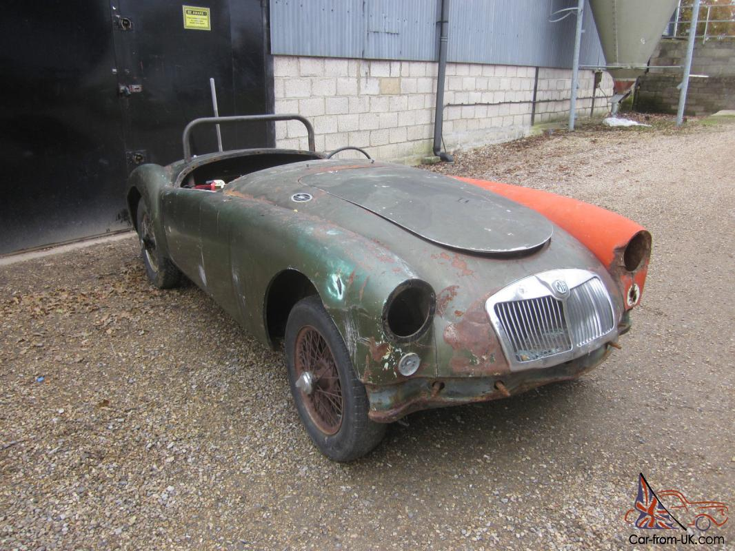 1958 Mga Roadster Lhd Roller Project Car To Restore For Sale
