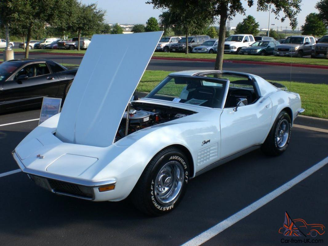 White Corvette Stingray >> 1971 White Corvette Stingray T Top Coupe