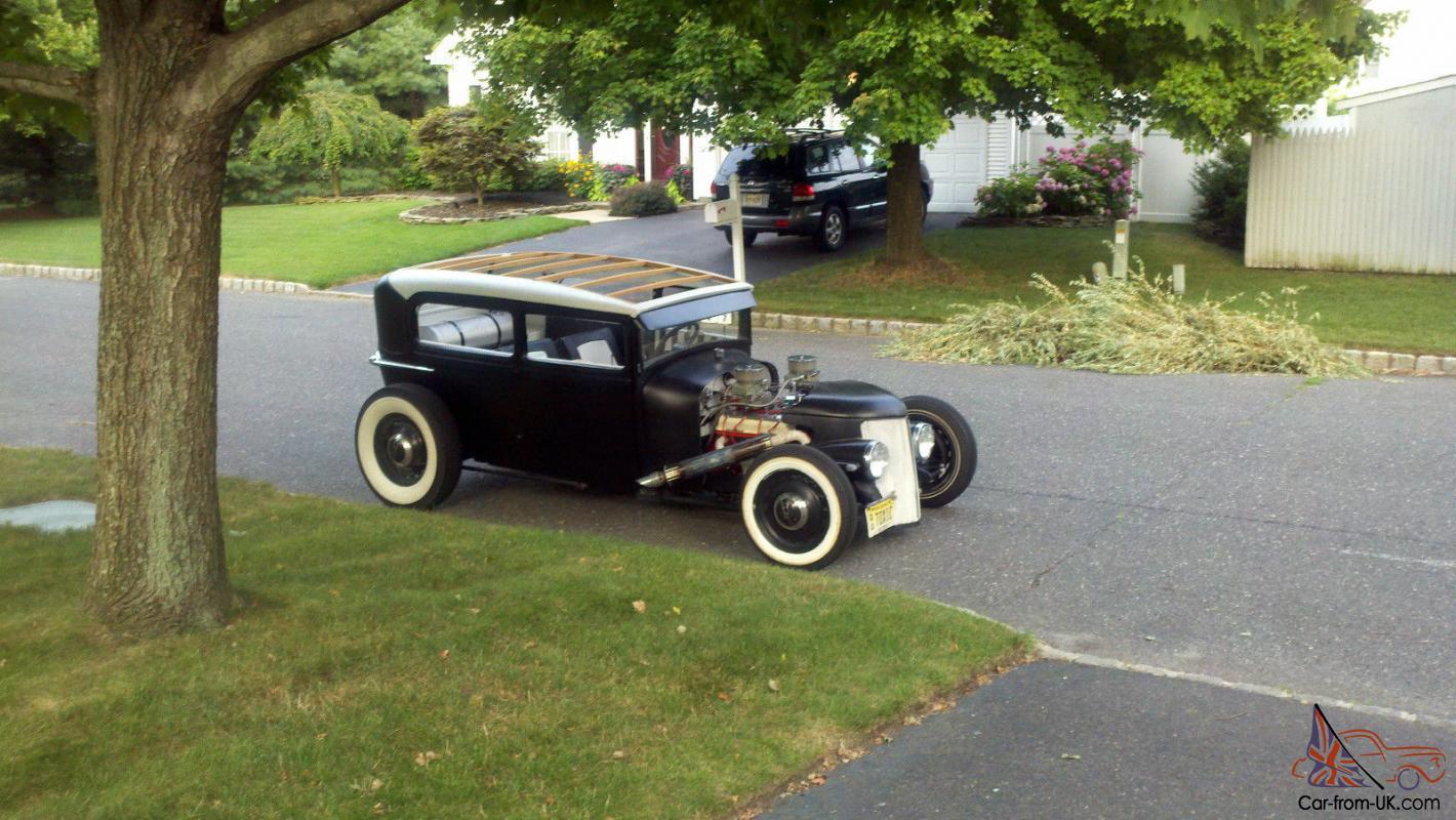 1929 Ford Model A Tudor Sedan Hot Rod Rat Rod Street Rod