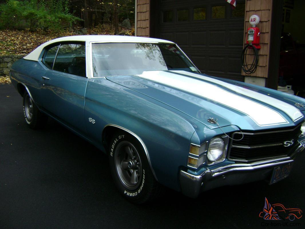 1971 Chevrolet Chevelle Ss 396 300 Ls3 Ascot Blue