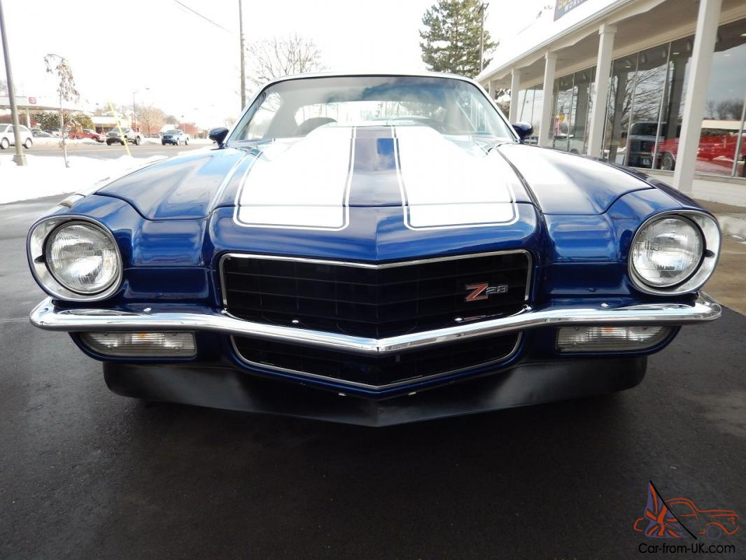 1973 Chevrolet Camaro Z28 383 Stroker 4 Speed 12 Bolt L82 Hood