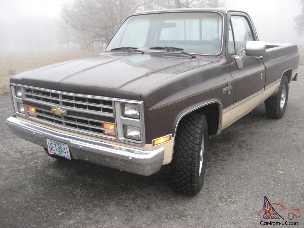 1985 Chevrolet Chevy Silverado C-20 454 3/4 Ton 4X2 2500 Pickup Truck GMC 2WD