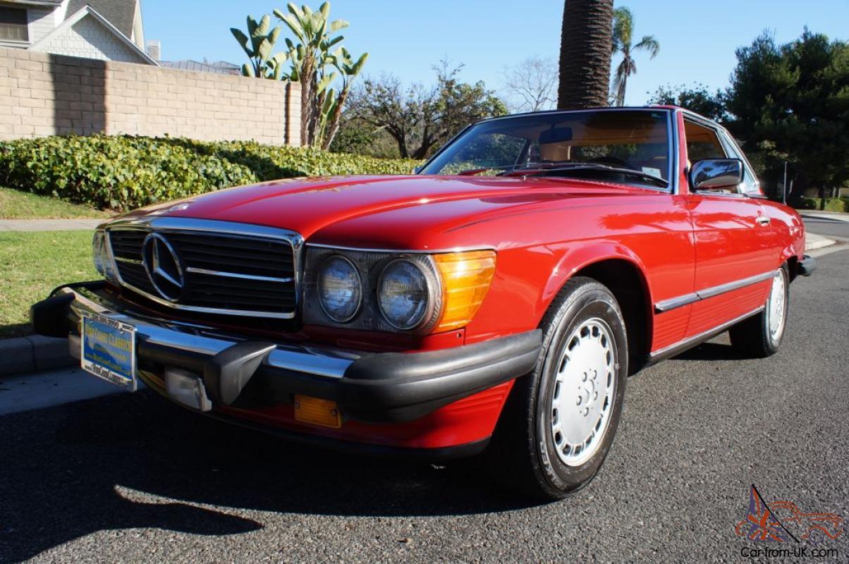 1988 560SL ORIGINAL OWNER CAR IN SIGNAL RED & 'PALOMINO ...