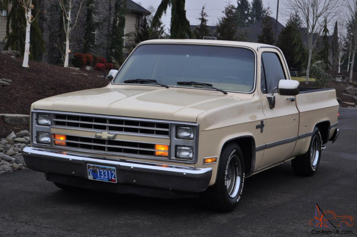 All Chevy chevy 1986 c10 : Chevy C10 Silverado Short Wide Box V8 AT PW rat rod gmc CLEAn Nice ...