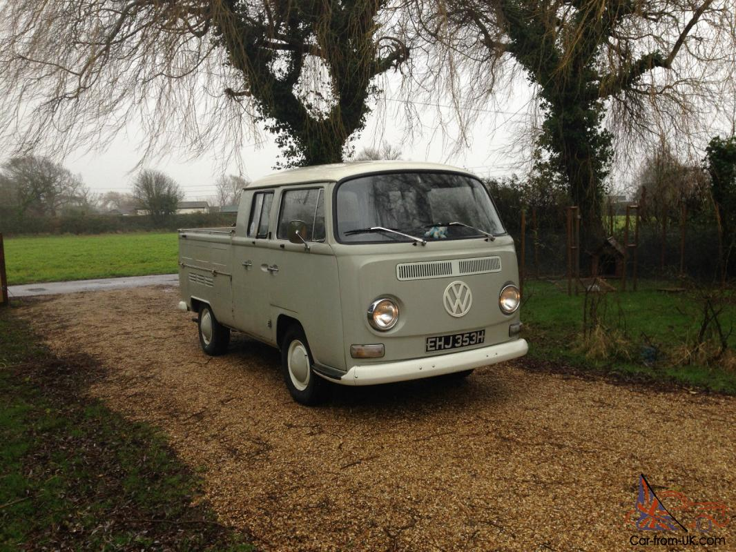 1970 Volkswagen Vw Early Bay Double Cab Pickup Camper Panel Van Grey Green