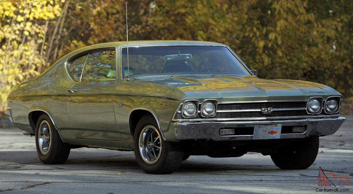 1969 Chevrolet Chevelle SS Hardtop 2-Door 6 5L SS396 L78 Numbers Matching