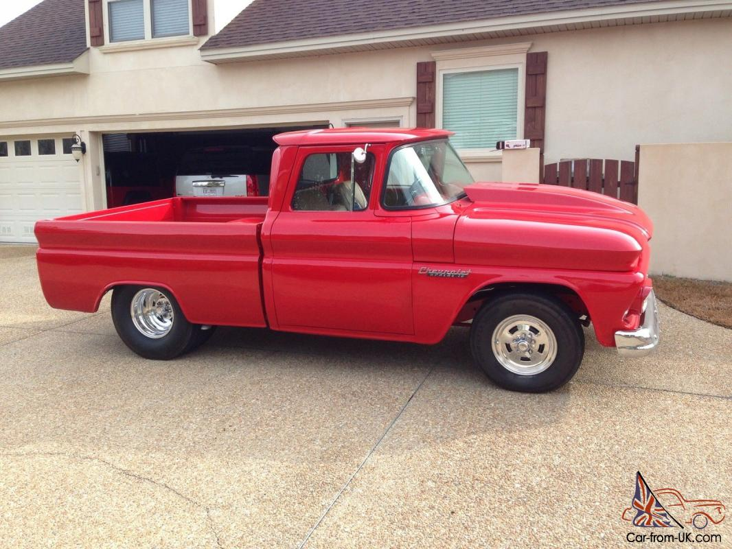 Truck chevy 1960 truck : Chevy Apache truck bolero red 383 stroker motor 350 turbo tranny.
