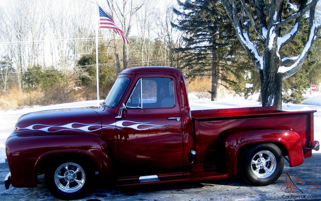 1955 Ford F 100 Pickup Truck Frame Off Restoration Power Steering