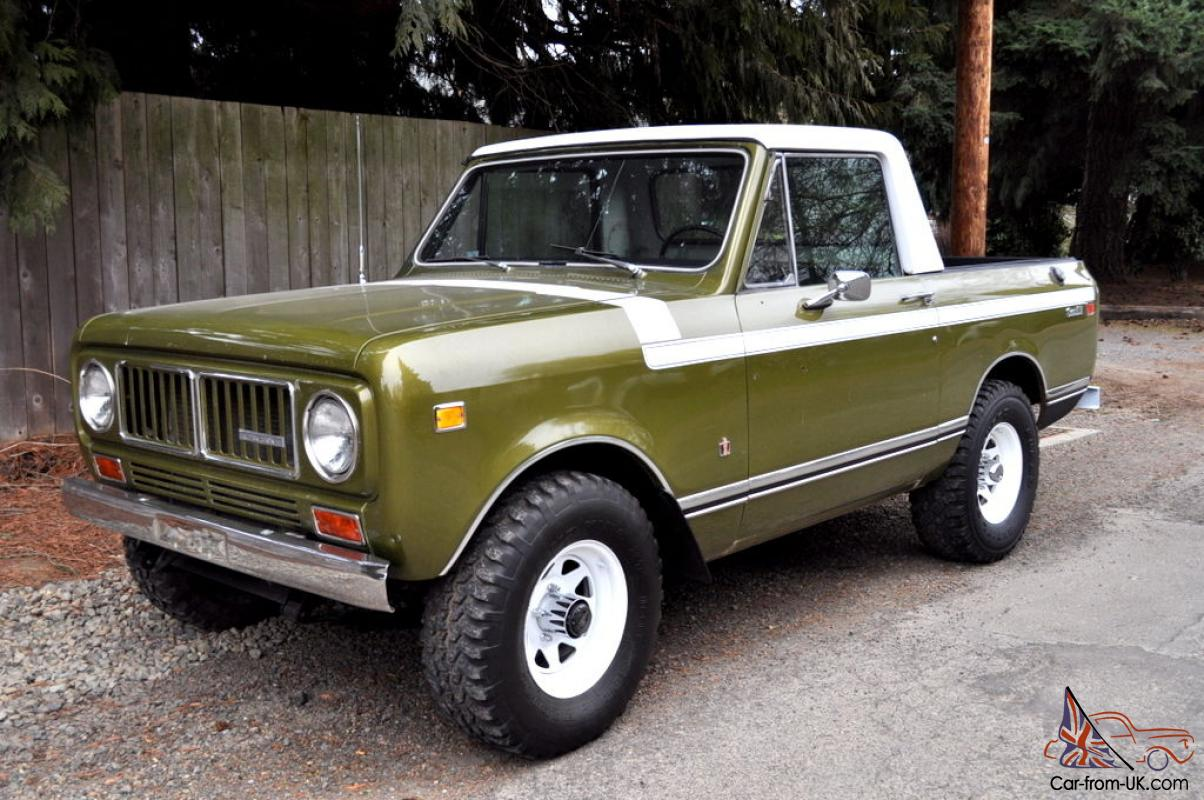 1976 International Scout Ii Custom Pickup One Of A Kind Must See