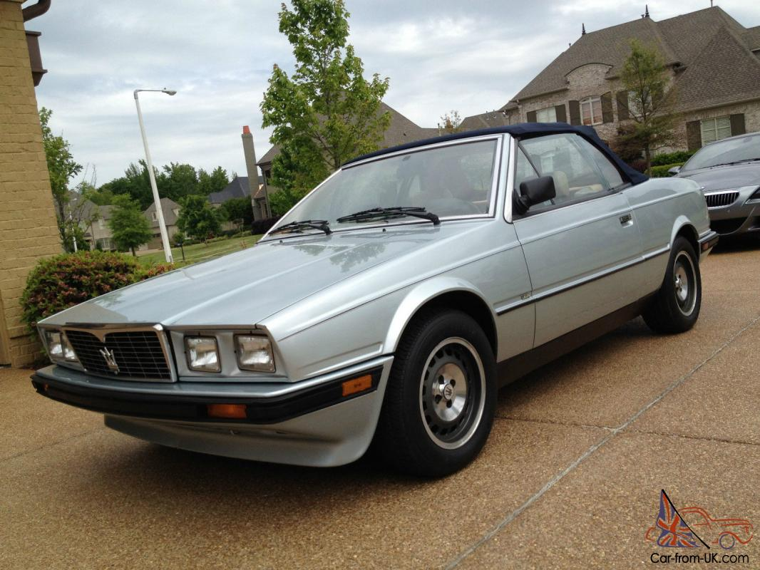 Maserati Spyder Convertible Biturbo 1986 Original LOW ...