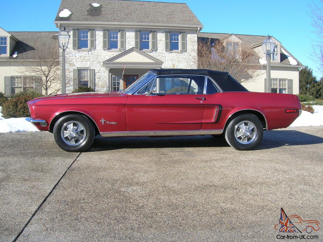1968 mustang convertible beautiful great condition just finished inferno red
