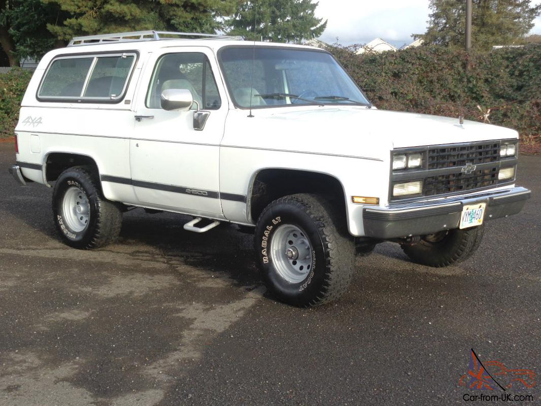 1989 Chevrolet Blazer K5 Silverado 4x4 1990 1988 1987 1986 1985