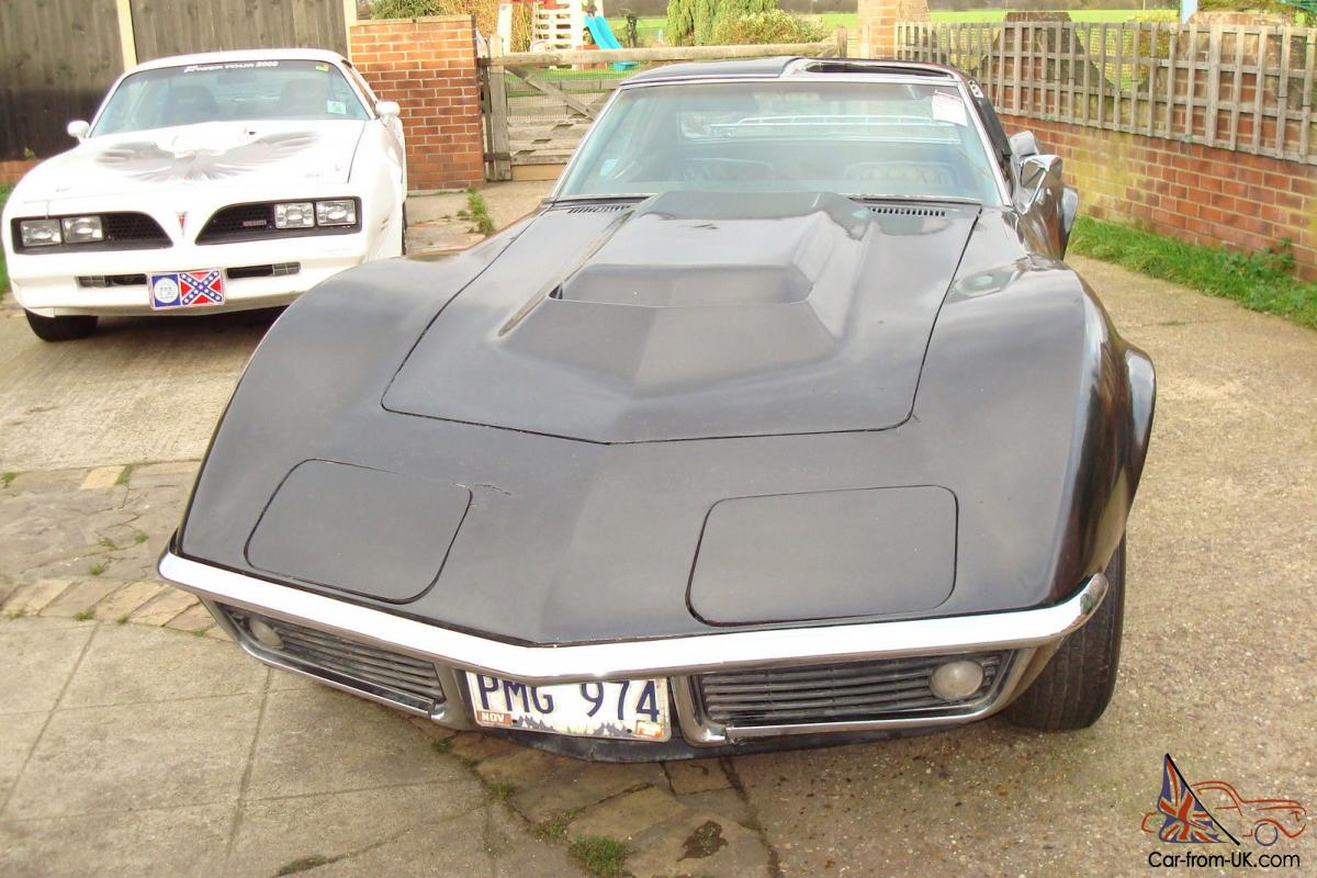 1969 CORVETTE 4-SPEED CHROME BUMPER    NEEDS WORK !!!!