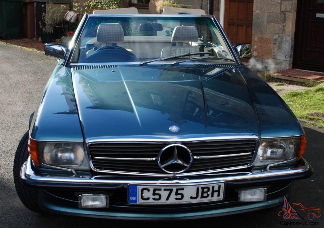 1986 MERCEDES 420 SL AUTO GREEN, FULL ENGINE REBUILD JUST COMPLETED