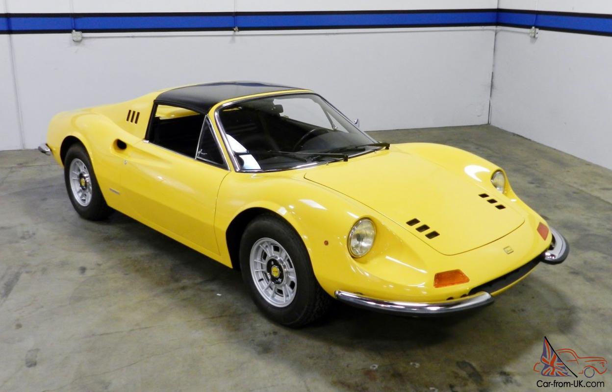 1973 Ferrari Dino 246 Gts Yellow Black Classiche Certified Concours Winner