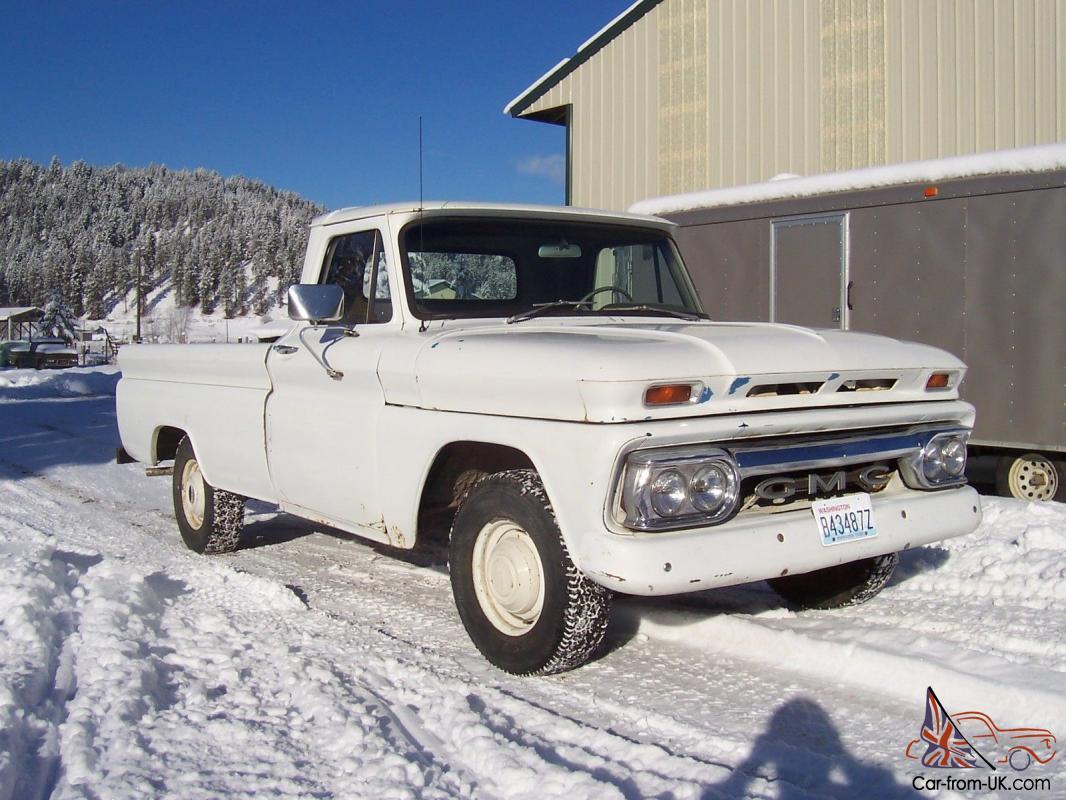 1966 GMC 1000 1/2 ton 2wd 350 4 spd fleet side LB chevy parts 1965 1964 c10