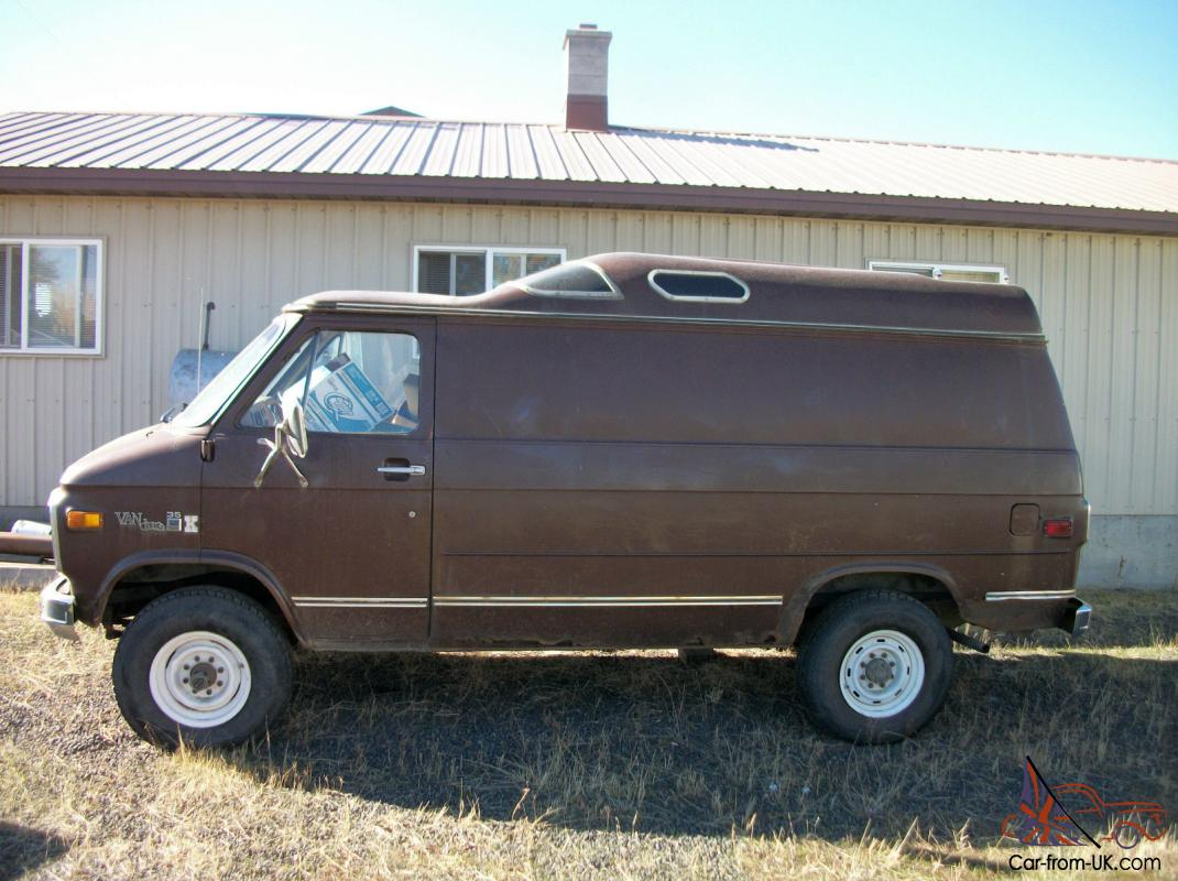 4X4 Vans For Sale >> 1979 Gmc Gmc Chevy 4x4 Van Cargo Hi Top K35 K30 C30 3500 4wd Lifted Stepside