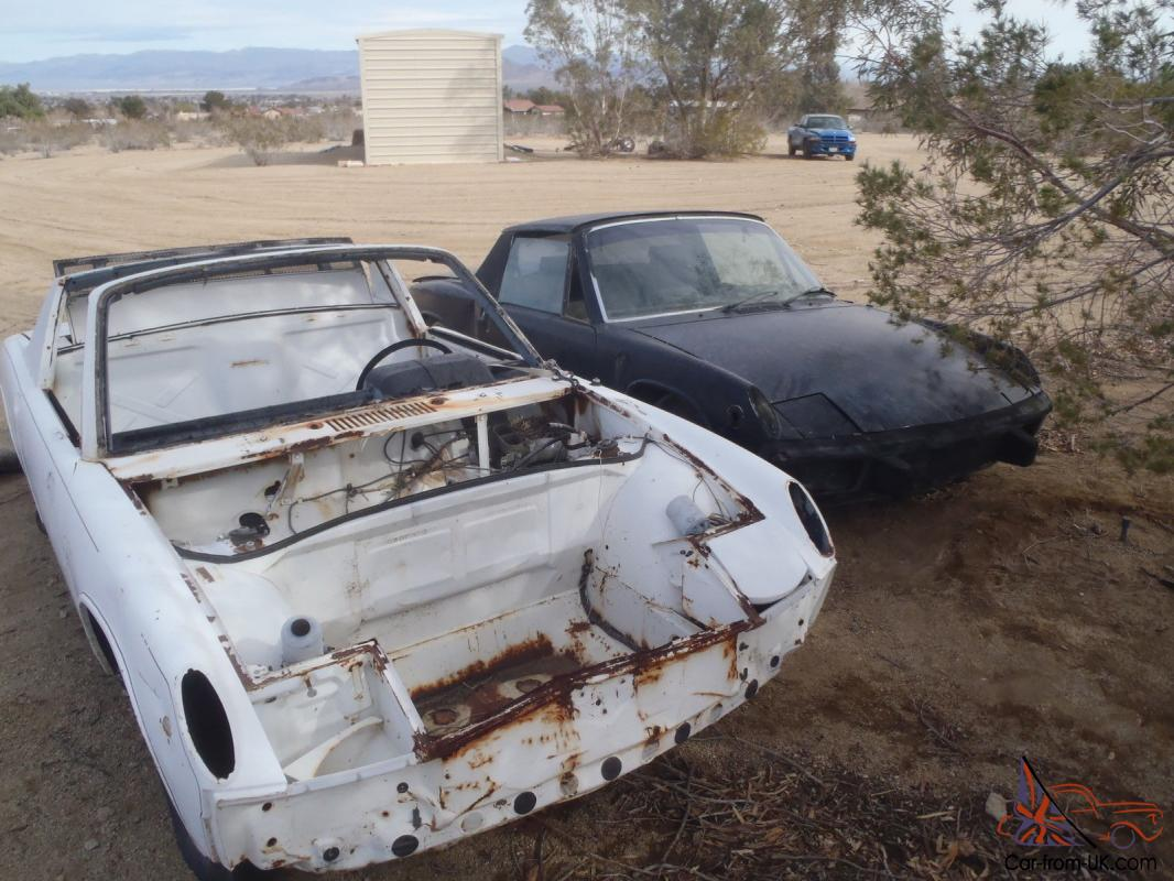 1971 WHITE Porsche 914 with engine and trance 1974 Porsche Parts Cars Vin  Number