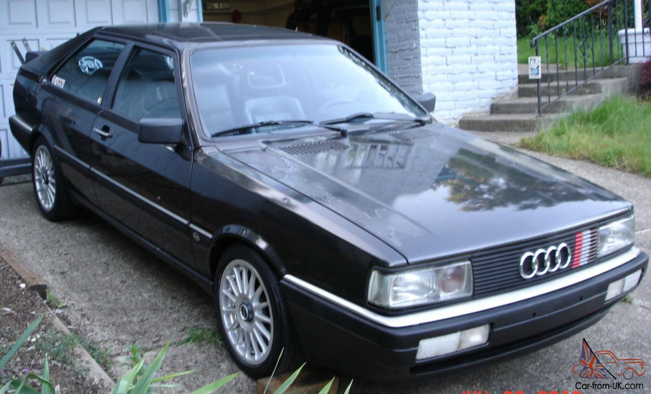 1986 Audi Coupe GT Rare Blk/Blk Build sheet ur quattro ...