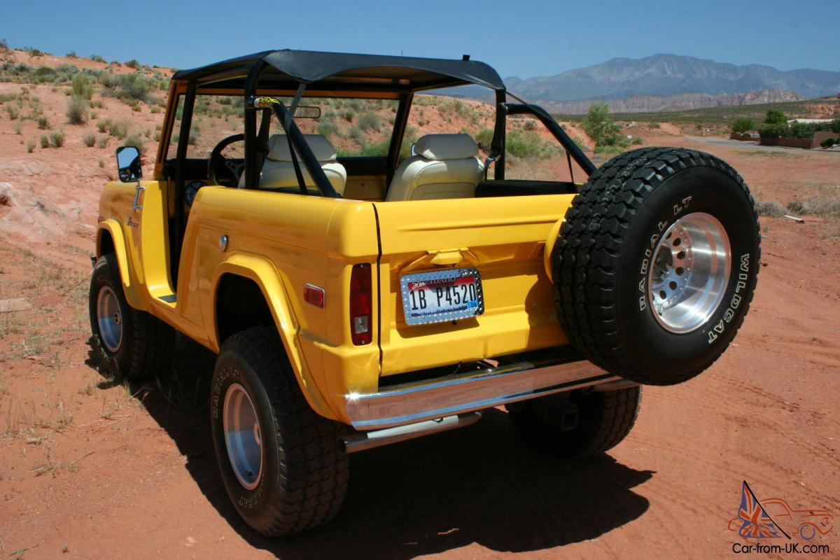 1970 Ford Custom Bronco, Yellow, Convertible, Classic, Vintage