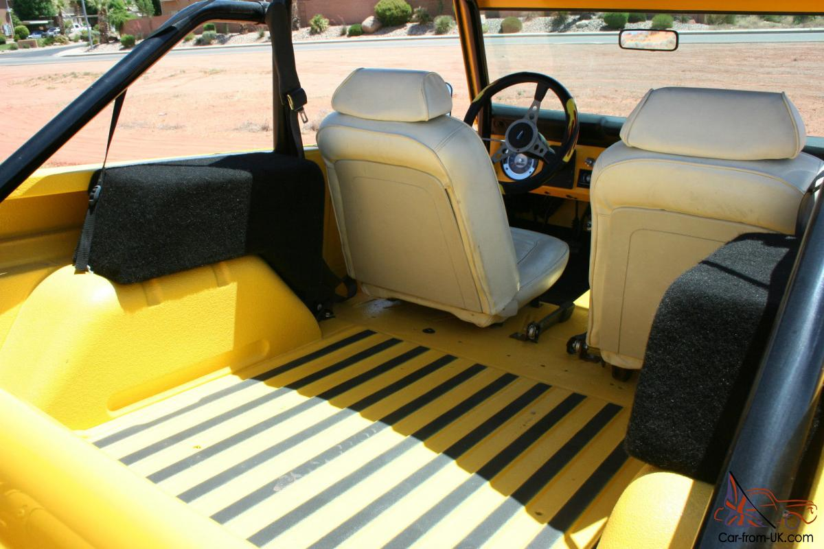 1970 Ford Custom Bronco Yellow Convertible Classic Vintage Interior