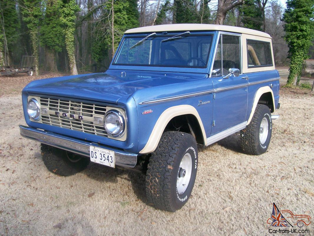 1967 FORD EARLY BRONCO FACTORY V8 ROADSTER