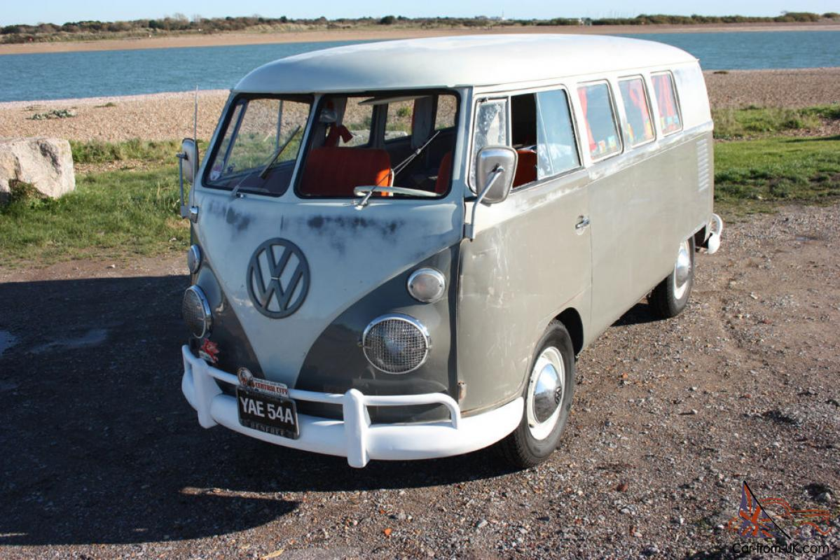 1963 VW Splitscreen Original paint walkthru camper Rust free