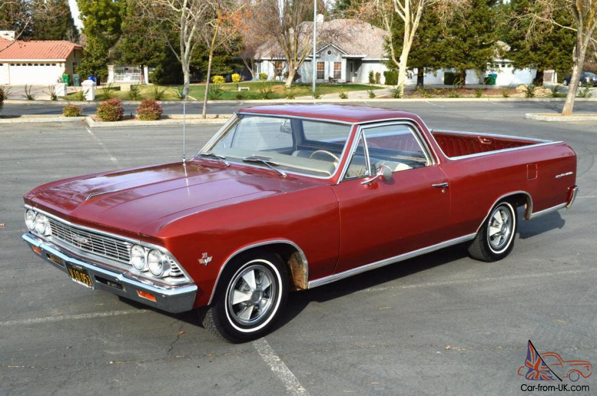 1966 Chevrolet El Camino 59k Orig Mile S Matching Ca Survivor 327 275 4 Speed