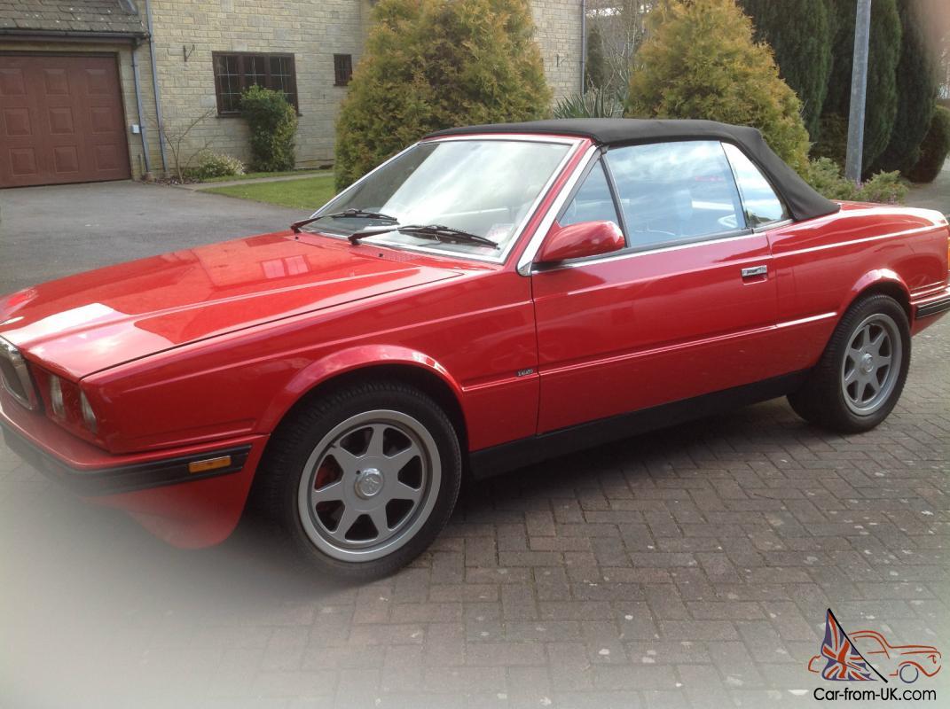 SPECIAL ED 2.8 V6 Bi-Turbo 1989 MASERATI SPYDER E RED VERY ...
