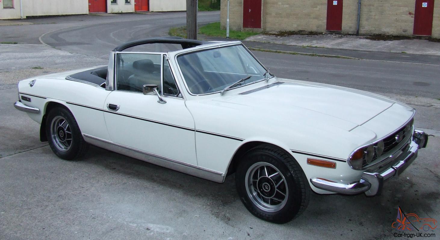 Triumph Stag Sports Convertible White Ebay Motors 151040518977