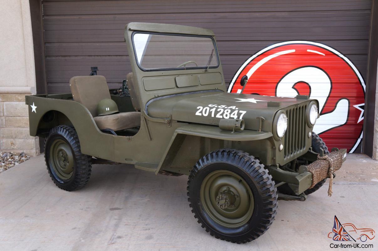 Military Jeeps For Sale >> Willys Cj3a Military Jeep Cj 3a