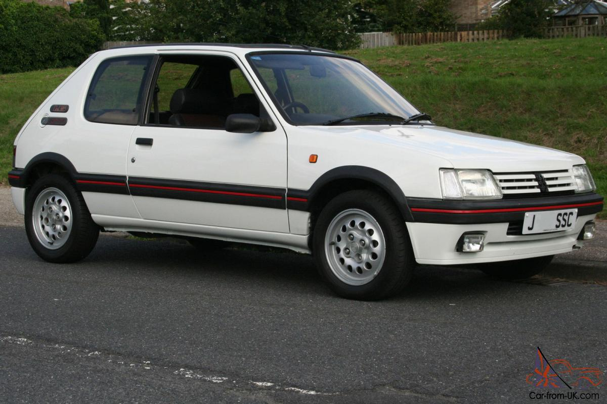 Vloermat 205 Gti.1991 Peugeot 205 Gti 1 6