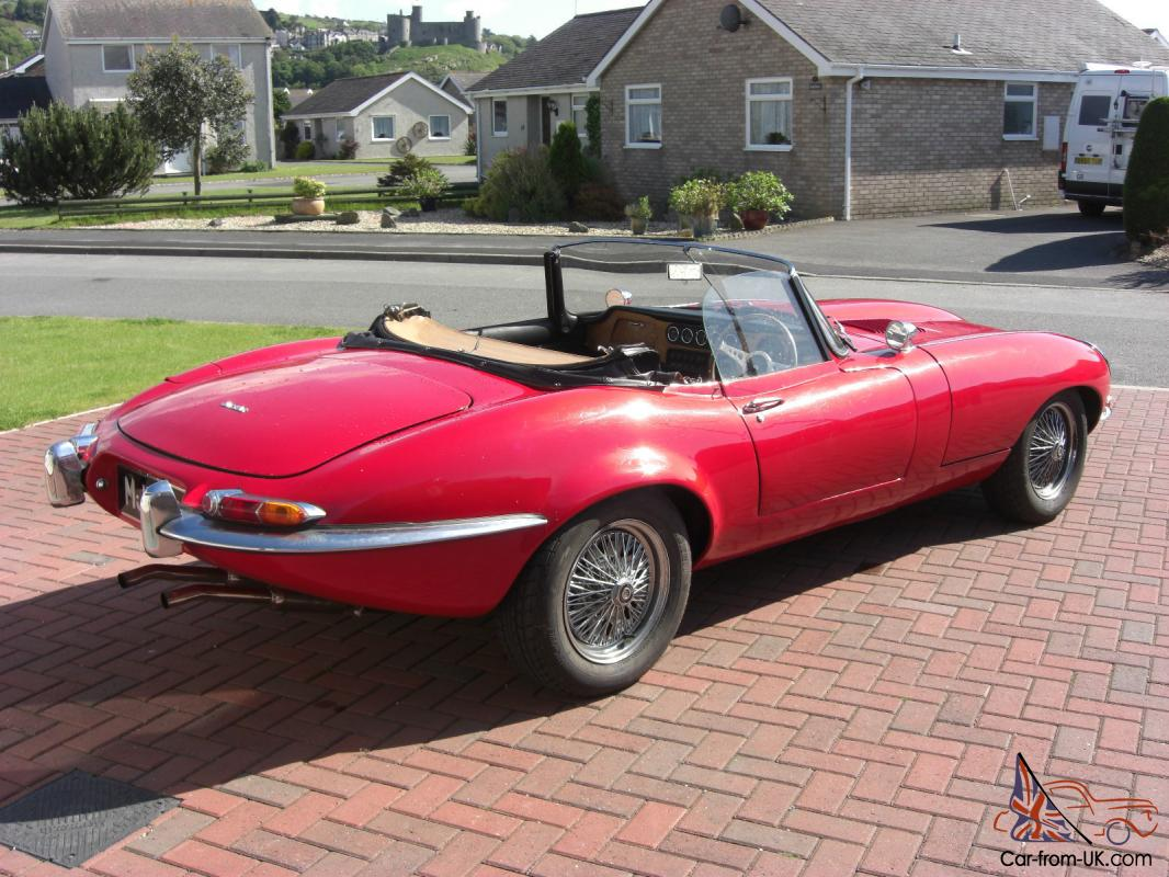 E Type Jaguar Kit Car Soft Top Pillar Box Red Great Fun Sorn