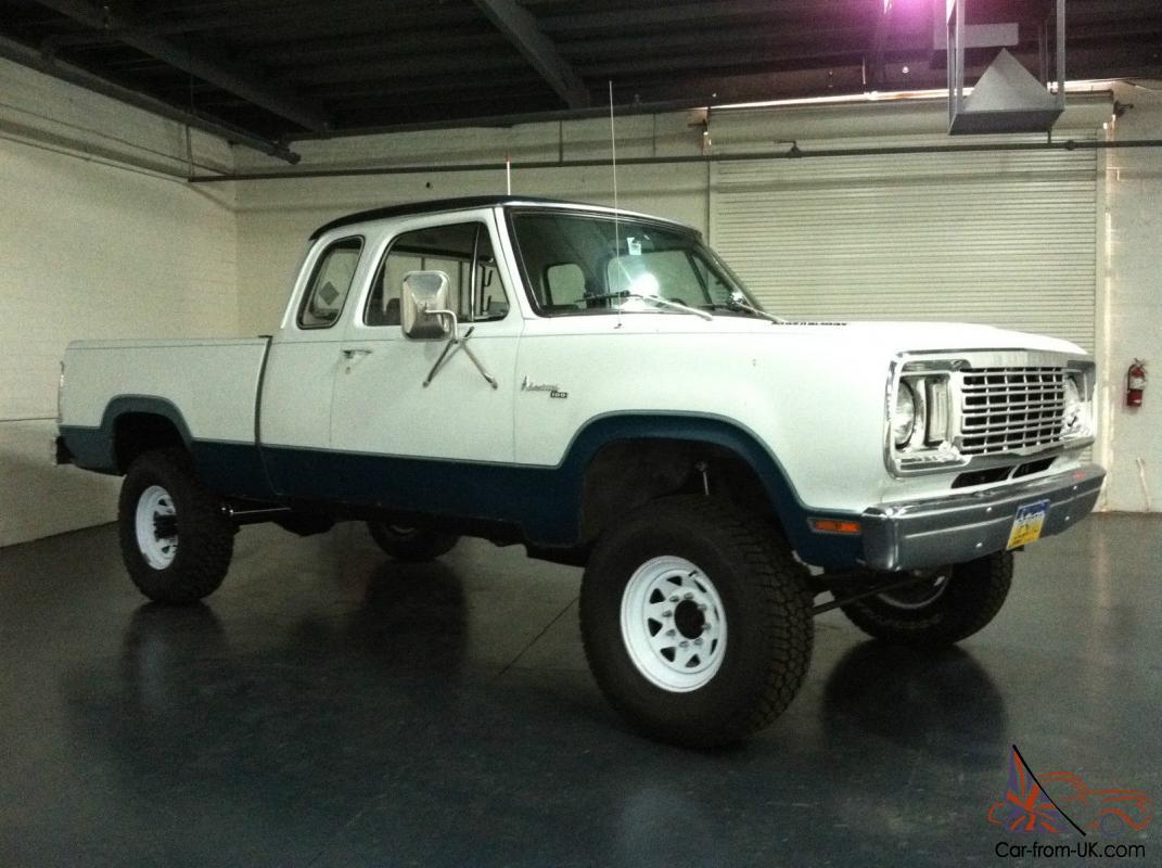 1977 Dodge Power Wagon Club Cab Short Bed Adventurer Pack