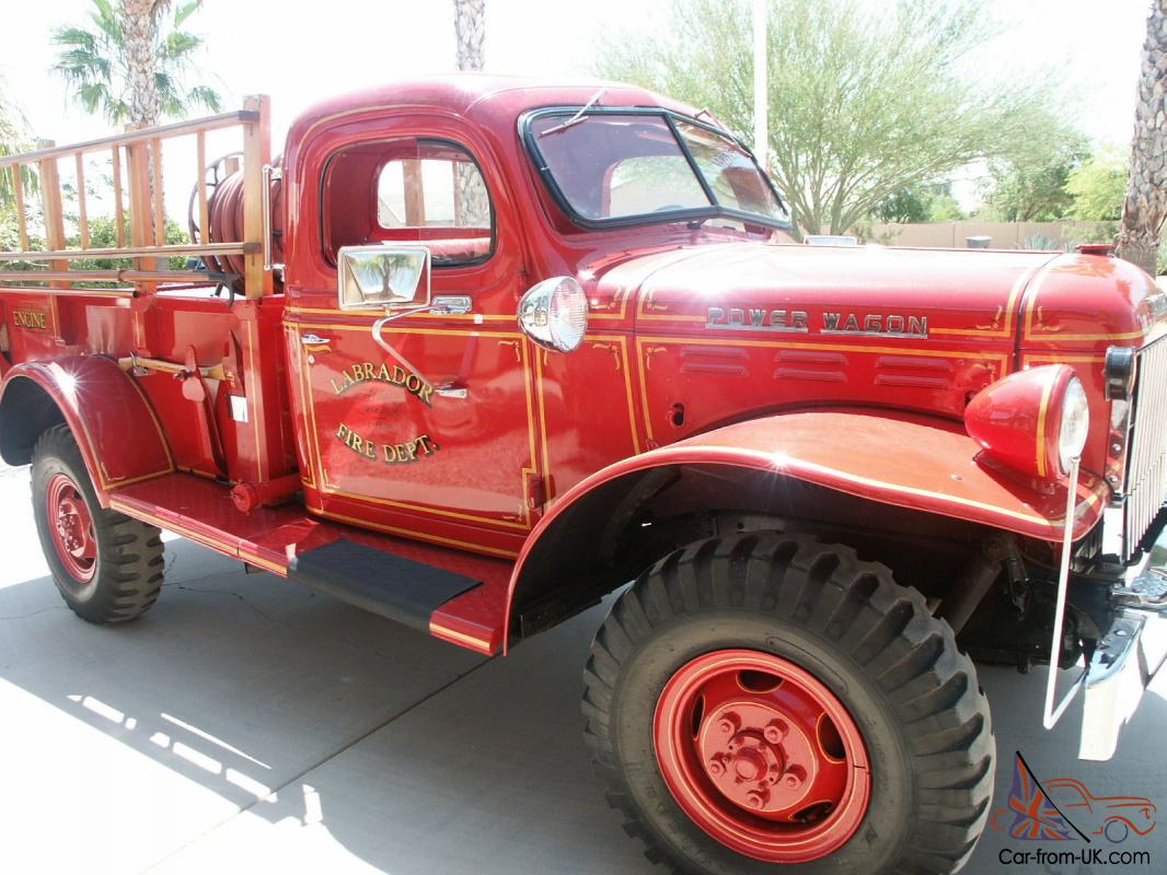 Beautiful Original 1948 Dodge Power Wagon Fire Truck Fire Engine