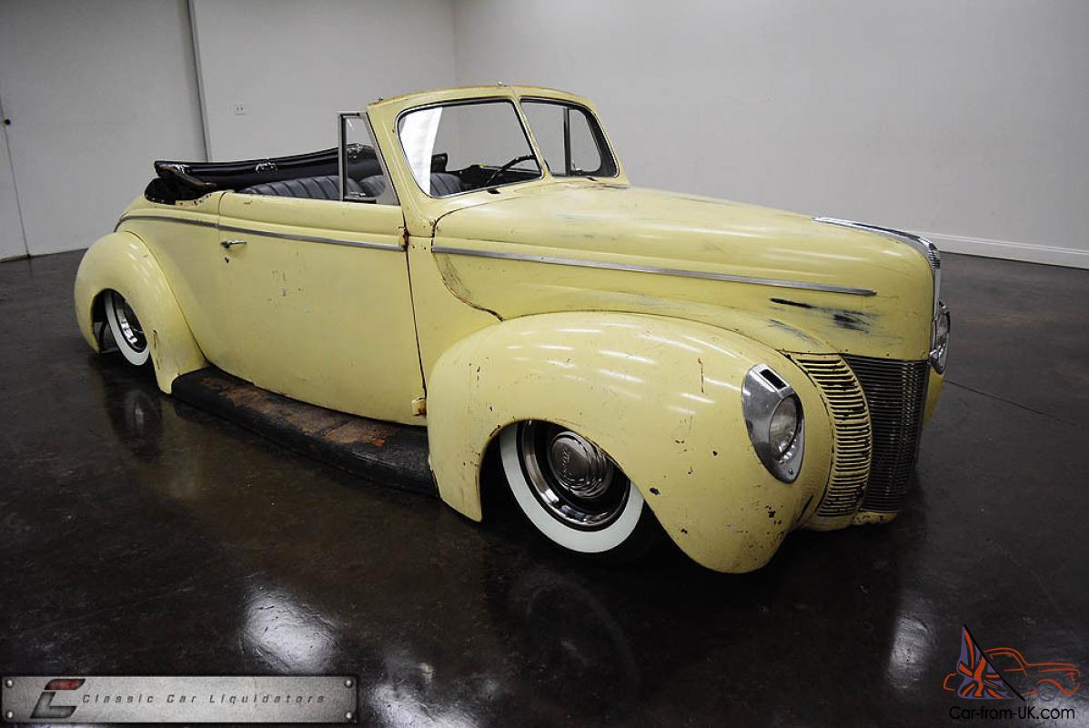 1940 Ford Deluxe Convertible Custom Air Ride Ls Engine Must See