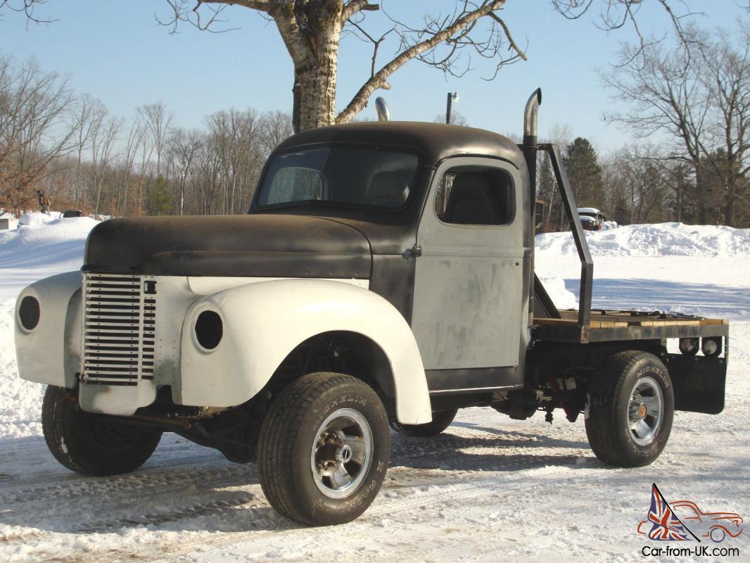1948 International Flat Bed Truck, pickup, 4x4, Rat Rod, Street Rod, V8,  Classic