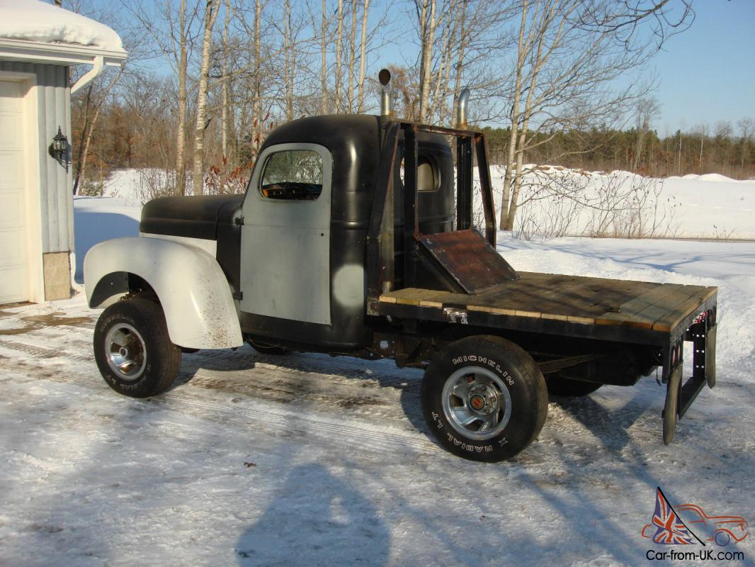 1948 International Flat Bed Truck Pickup 4x4 Rat Rod Street 48 Ford Pu Wiring V8 Classic