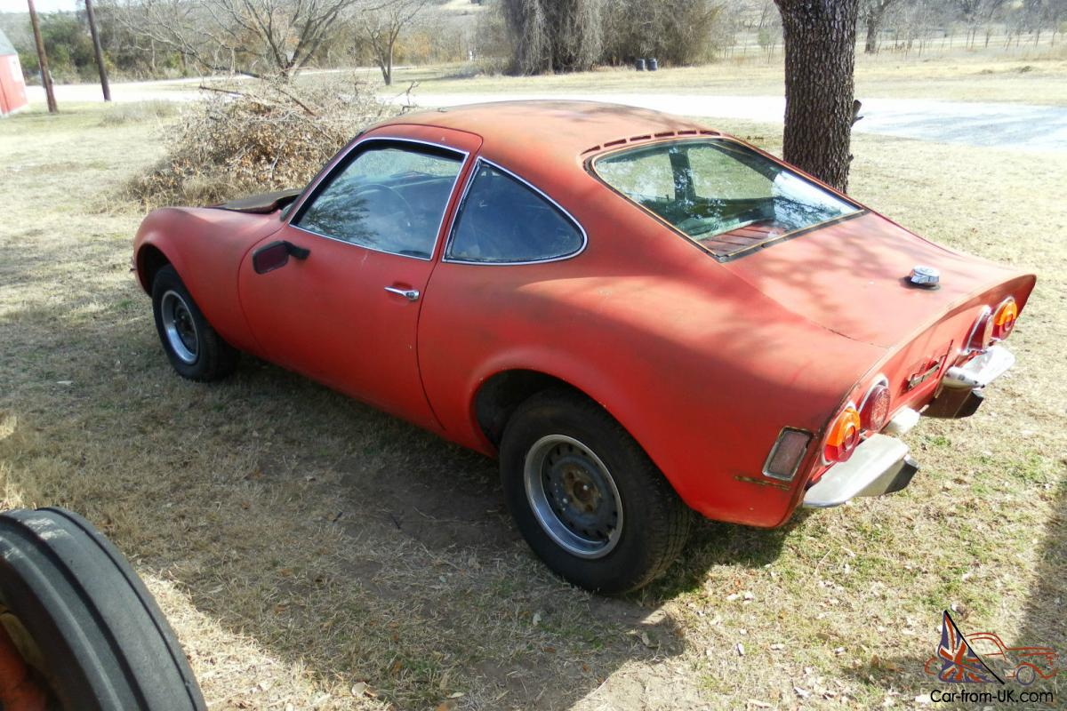 Vintage 1970 Opel Gt Project Very Cool
