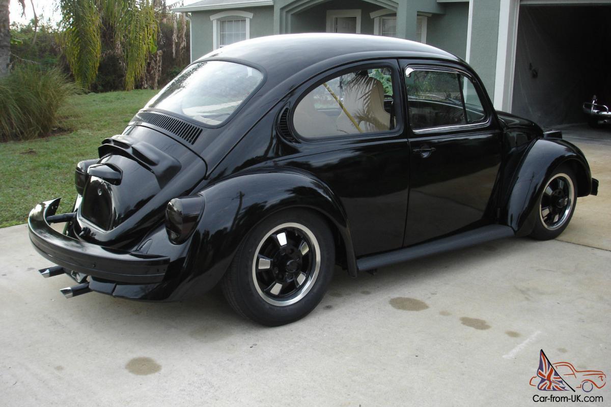 1974 vw bug, Black, Volkswagen, Beetle, Narrowed beam, Lowered,