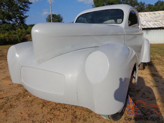 1941 Willys new fiberglass body, gasser pro street rat rod project roller