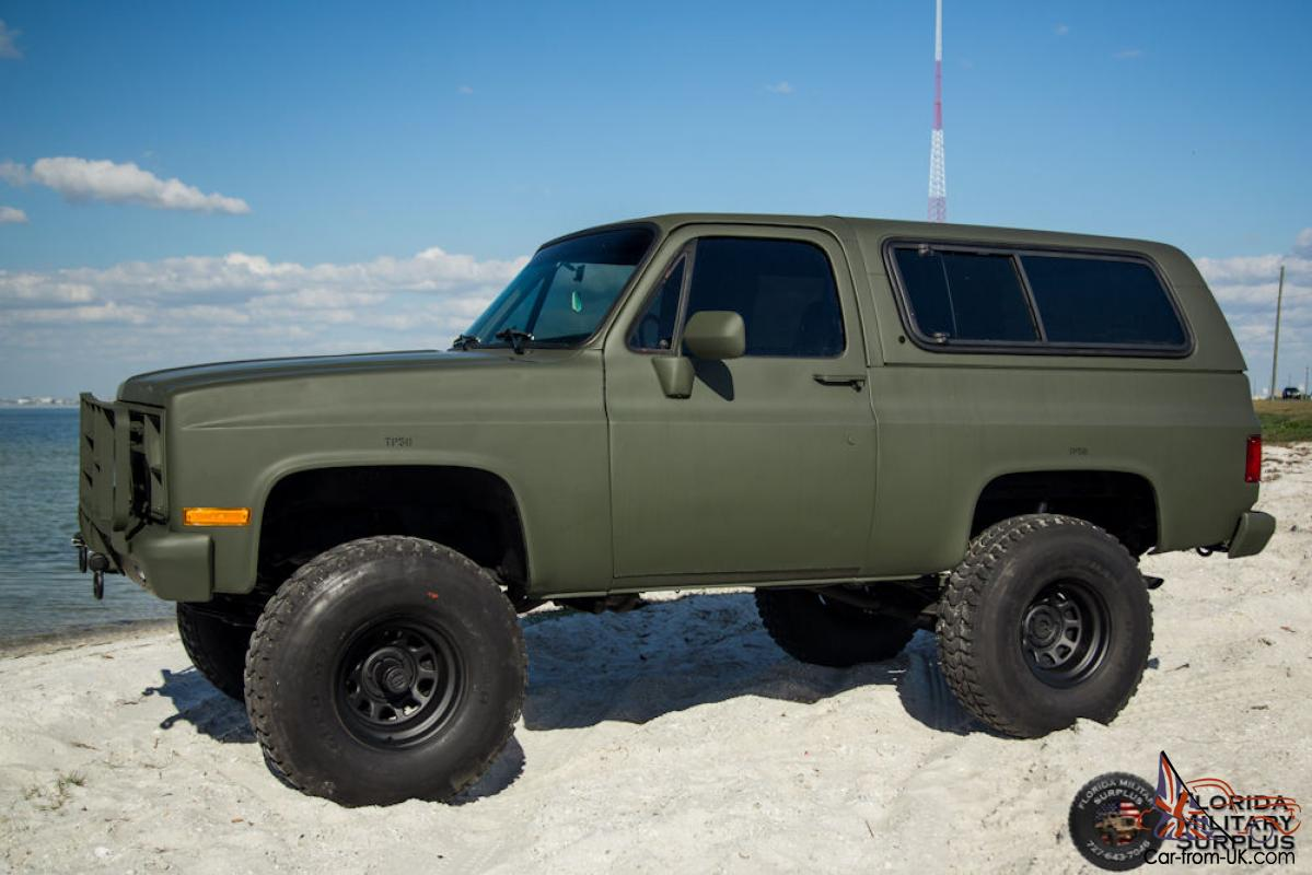 Chevy Military Trucks For Sale >> 1986 Chevrolet K5 Cucv Blazer Military M1009 M1008 M35a2 M35 Must See