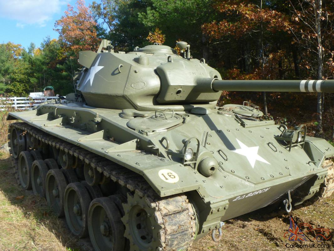 Military Tanks For Sale >> 1943 M24 Chaffee Tank Rare Wwii Armor