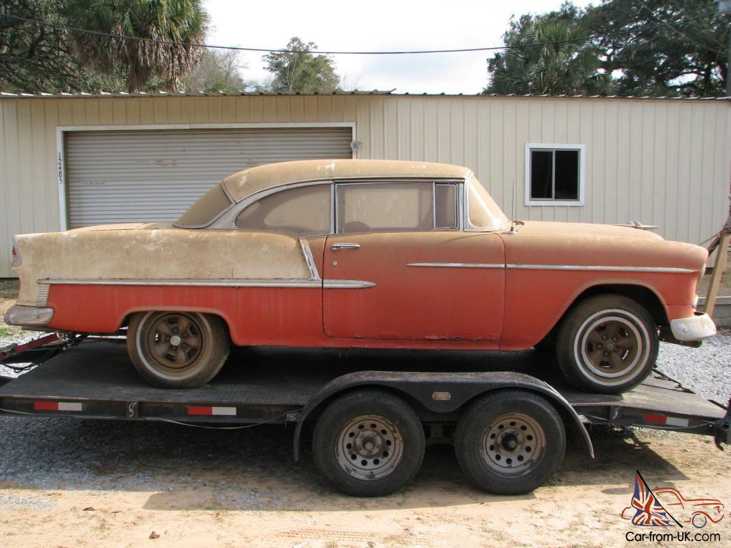 All Chevy 55 chevy for sale : Chevy 2 Door Hardtop Belair Factory V8 Barn Find Project Hot Rat ...