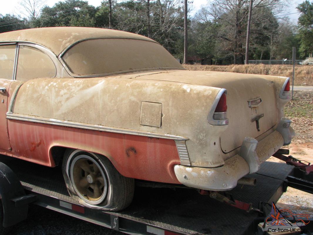 1955 Chevy 2 Door Hardtop Belair Factory V8 Barn Find