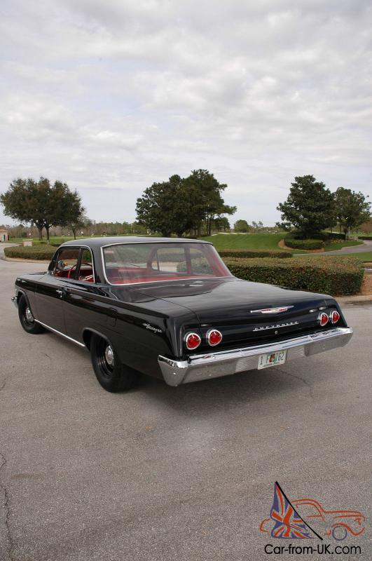 1962 Chevrolet Biscayne 2 dr,Black/Red Int 509 Merlin Big Block, 5  Spd Frame Off