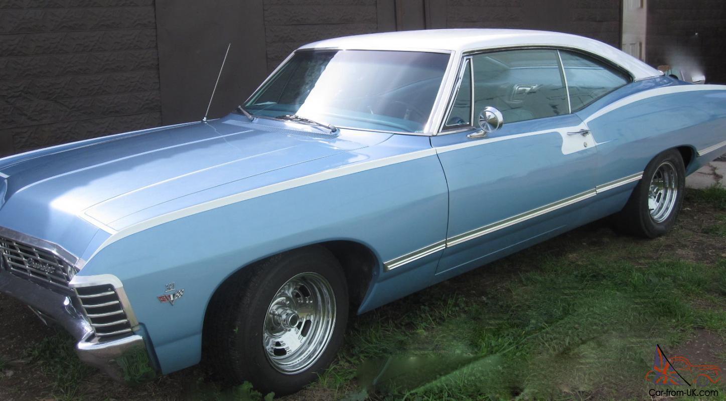 Impala 1967 chevy impala 4 door hardtop for sale : Chevy Impala 327 V8 2 Door Hardtop Blue Total Body Restoration